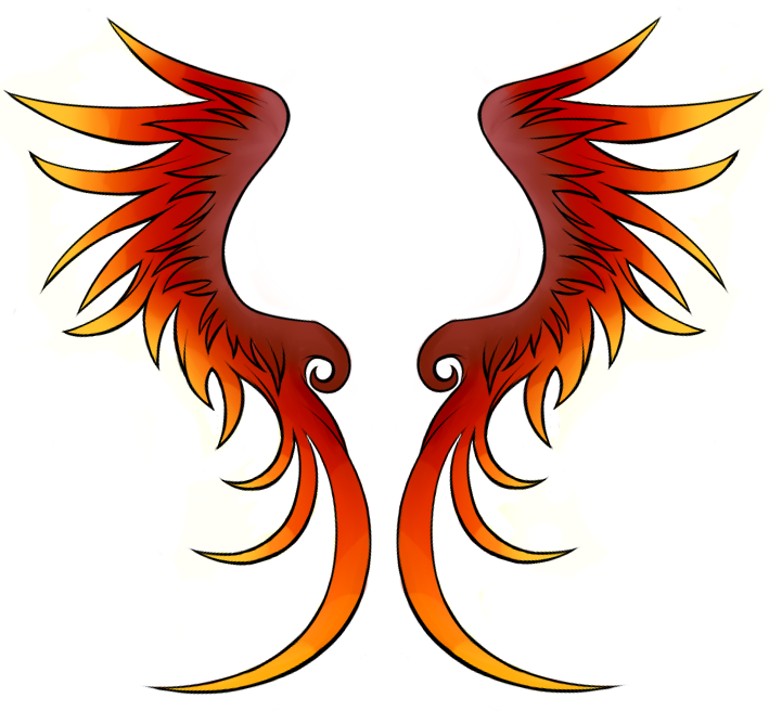 Phoenix Wings Drawing at GetDrawings.com.