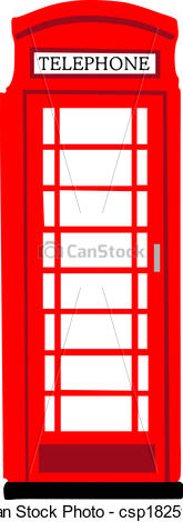 English phone booth clipart.