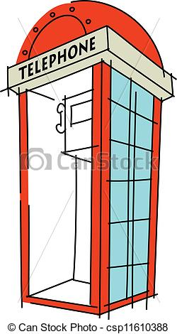 Phone booth clipart.