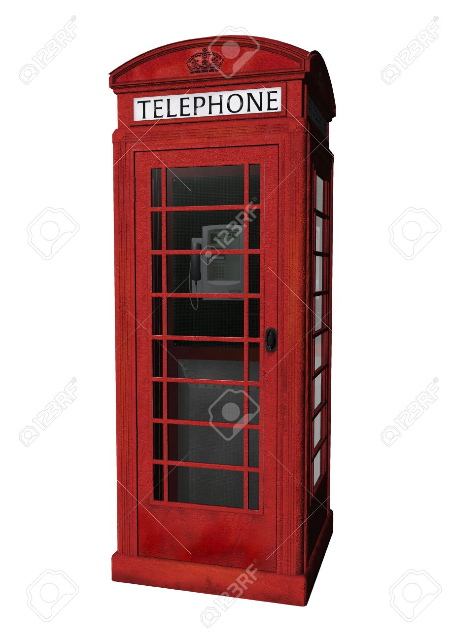 A London Phone Booth In 3d Clipart Stock Photo, Picture And.