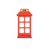 London Phone Booth Clip Art, Vector London Phone Booth.