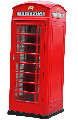 Red London Phone Booth transparent PNG.