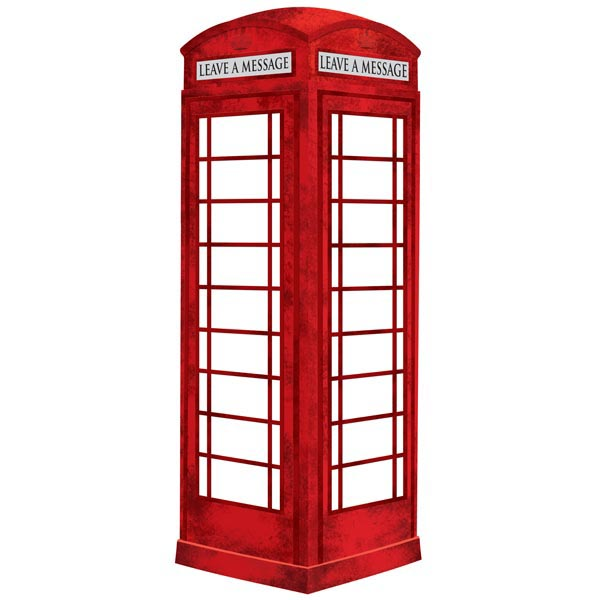 London Phone Booth Dry Erase Message Board.