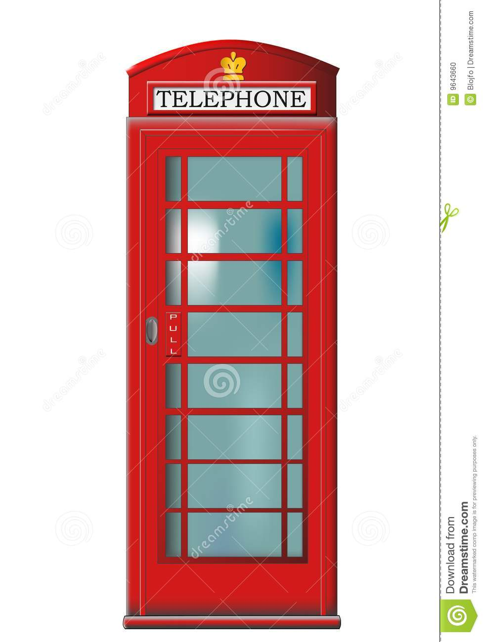 Phone Booth Vector Stock Photo.