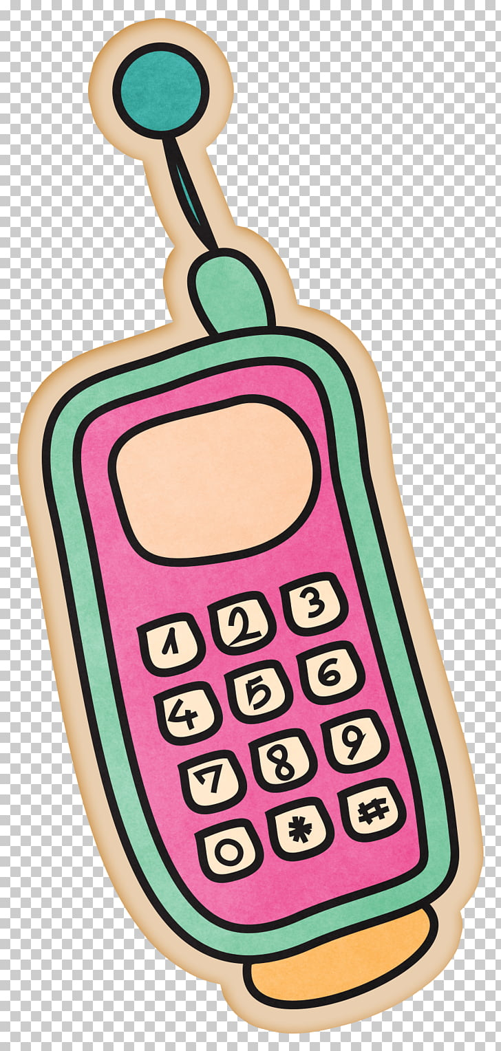 Mobile phone Cartoon Drawing Telephone, Beautiful cartoon.