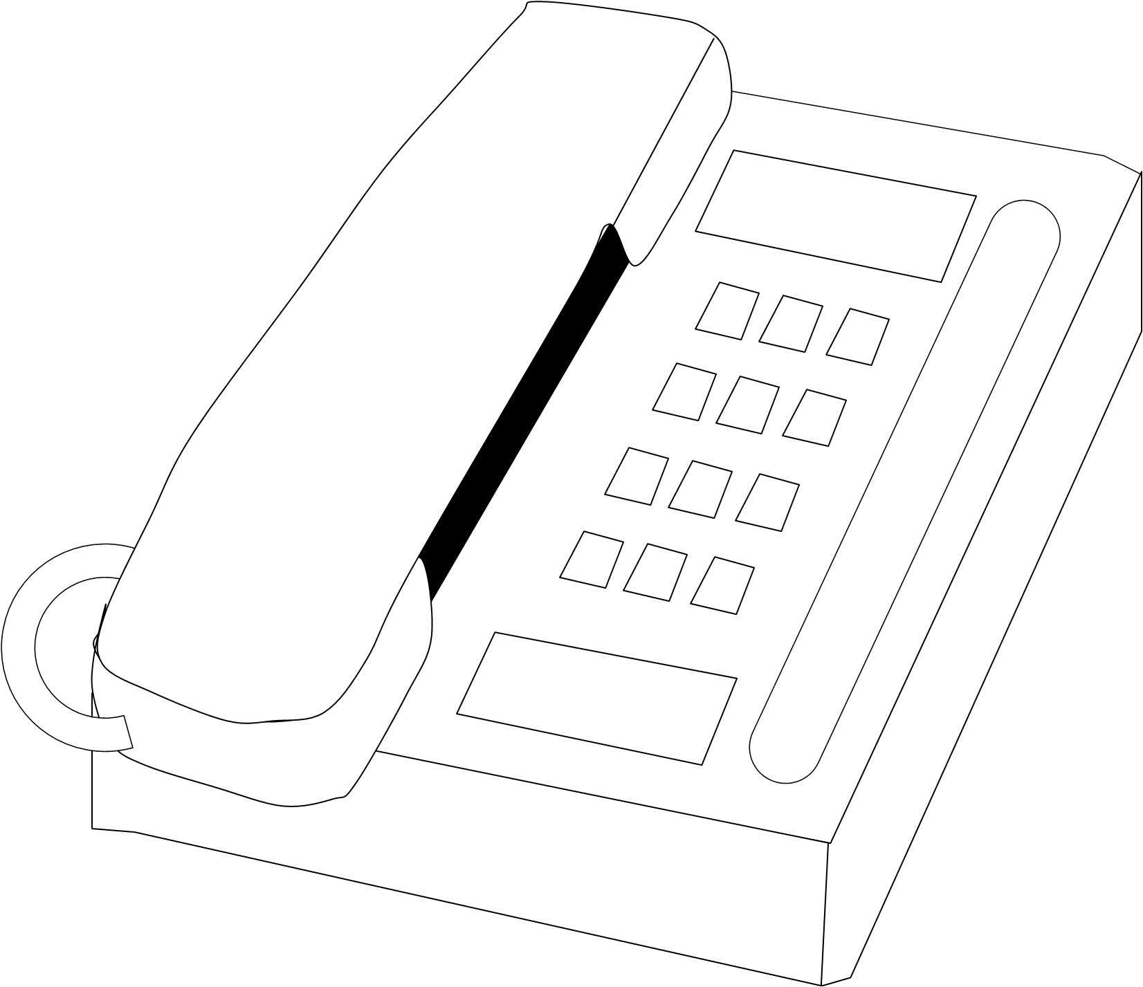 phone clipart outline #8