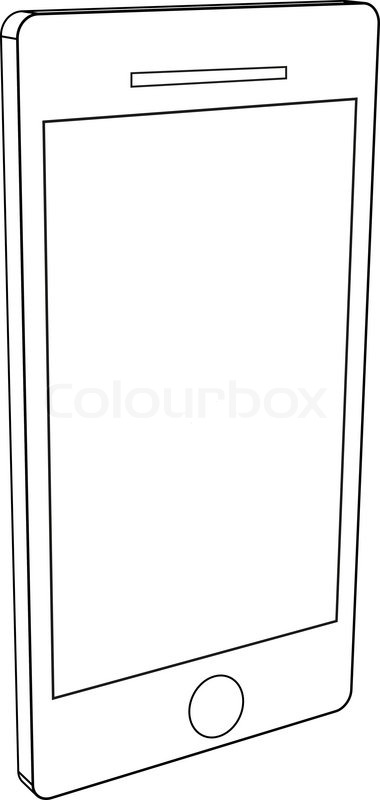 Smart Phone Outline graphic vector eps10.