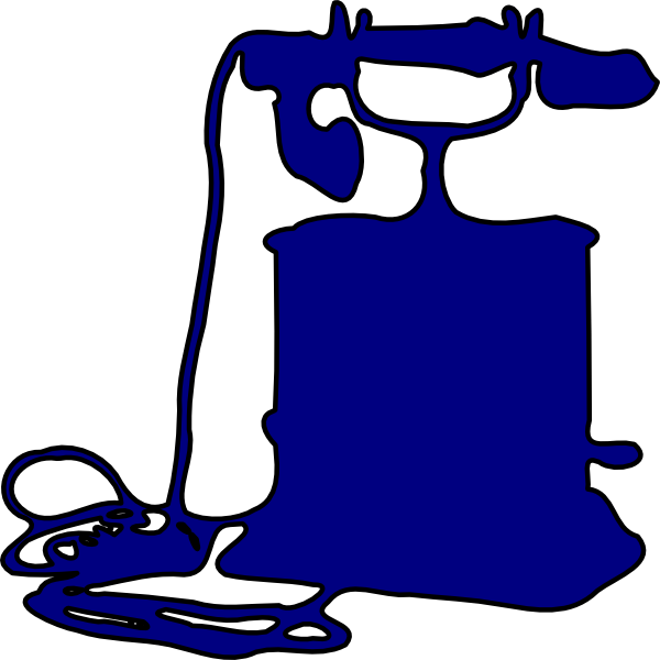 Telephone Outline Clip Art at Clker.com.