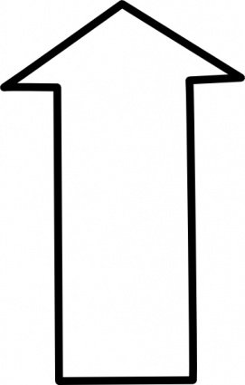 White Outline Up Arrow, Vector Graphic.