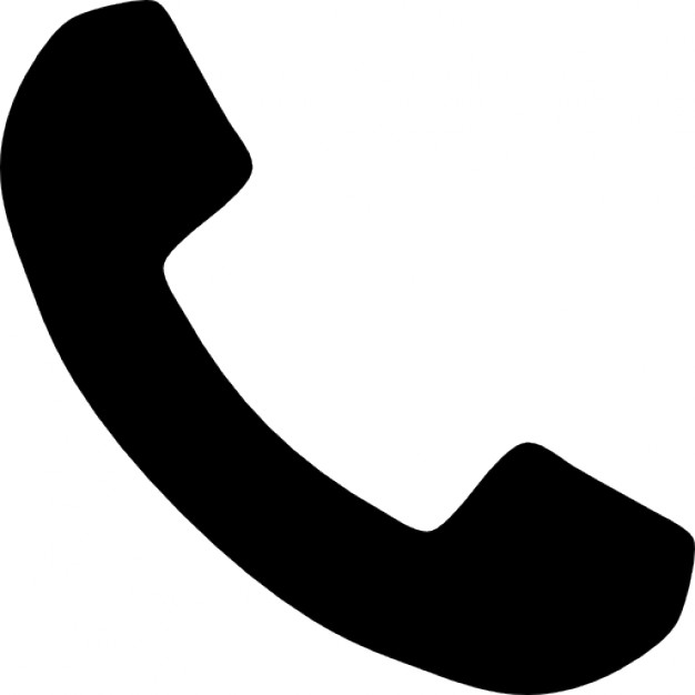 Telephone handle silhouette Icons.