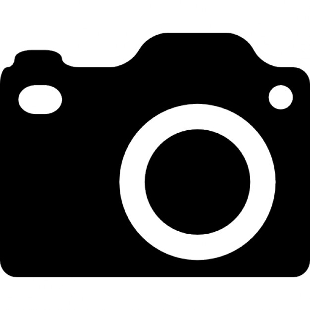 DSLR camera silhouette Icons.