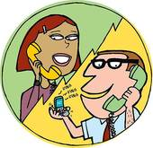 Telephone clipart telephone conversation, Telephone.