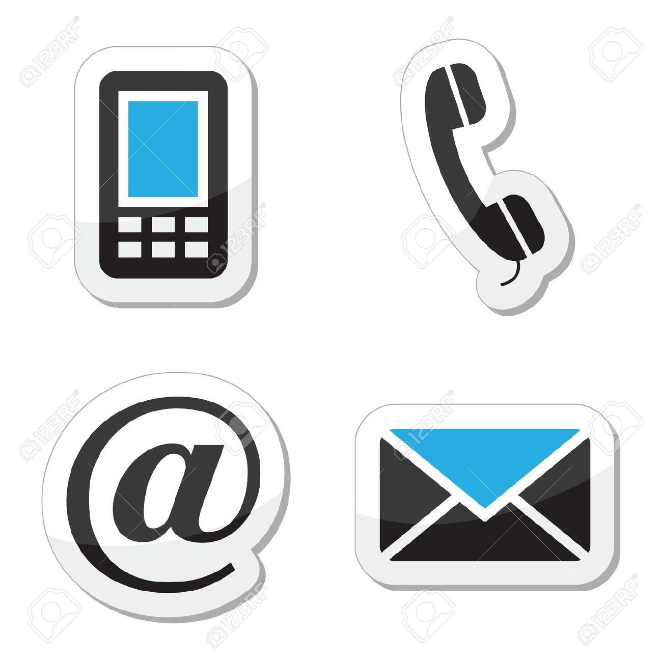 Phone Email Clipart.