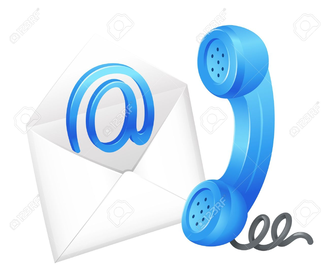 phone and email clipart clipground