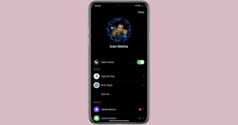 Enable dark mode in Messenger by sending an emoji.