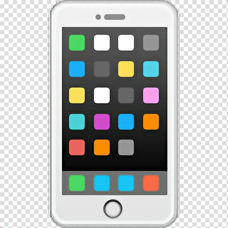 White smartphone illustration, World Emoji Day iPhone.