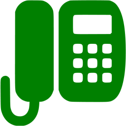 Green office phone icon.