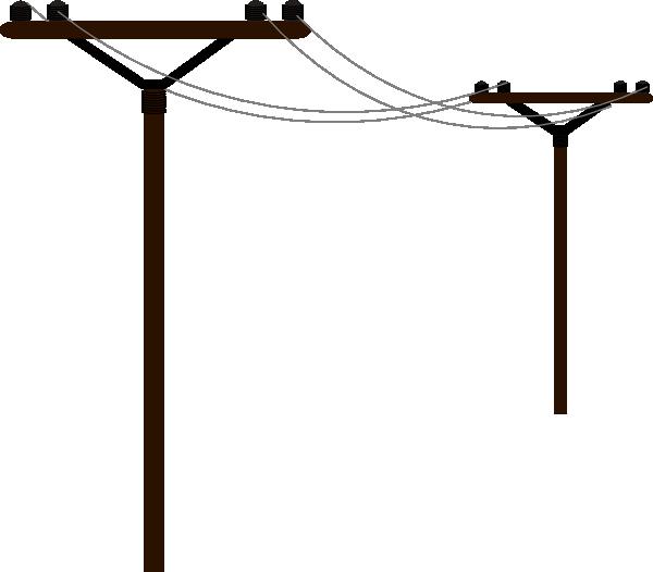 Telephone line clipart.