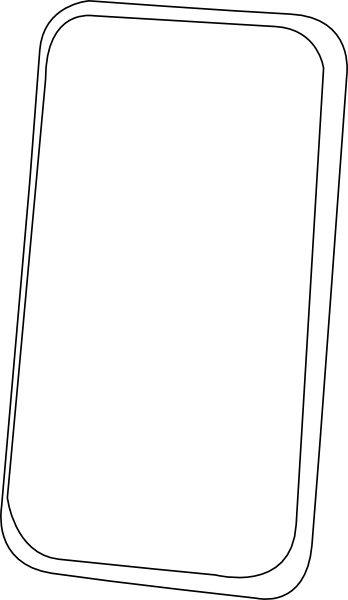 Smart Phone Line Art Clip Art at Clker.com.