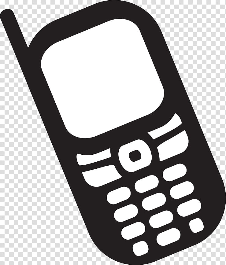 Simple Cellphone, candybar phone illustration transparent.