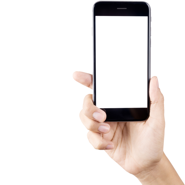 Phone In Hand PNG.