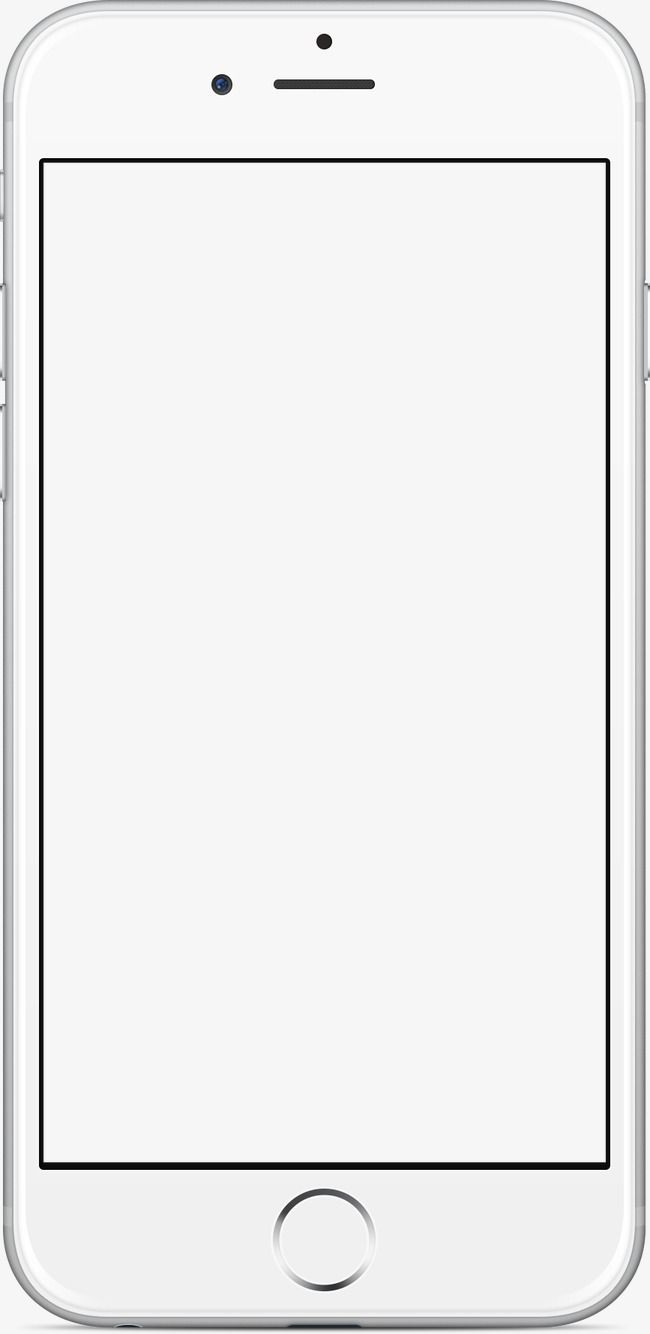 Phone Frame, Phone Clipart, Frame Clipart, White PNG.