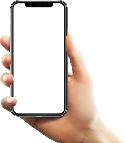 Phone In Hand PNG Image.