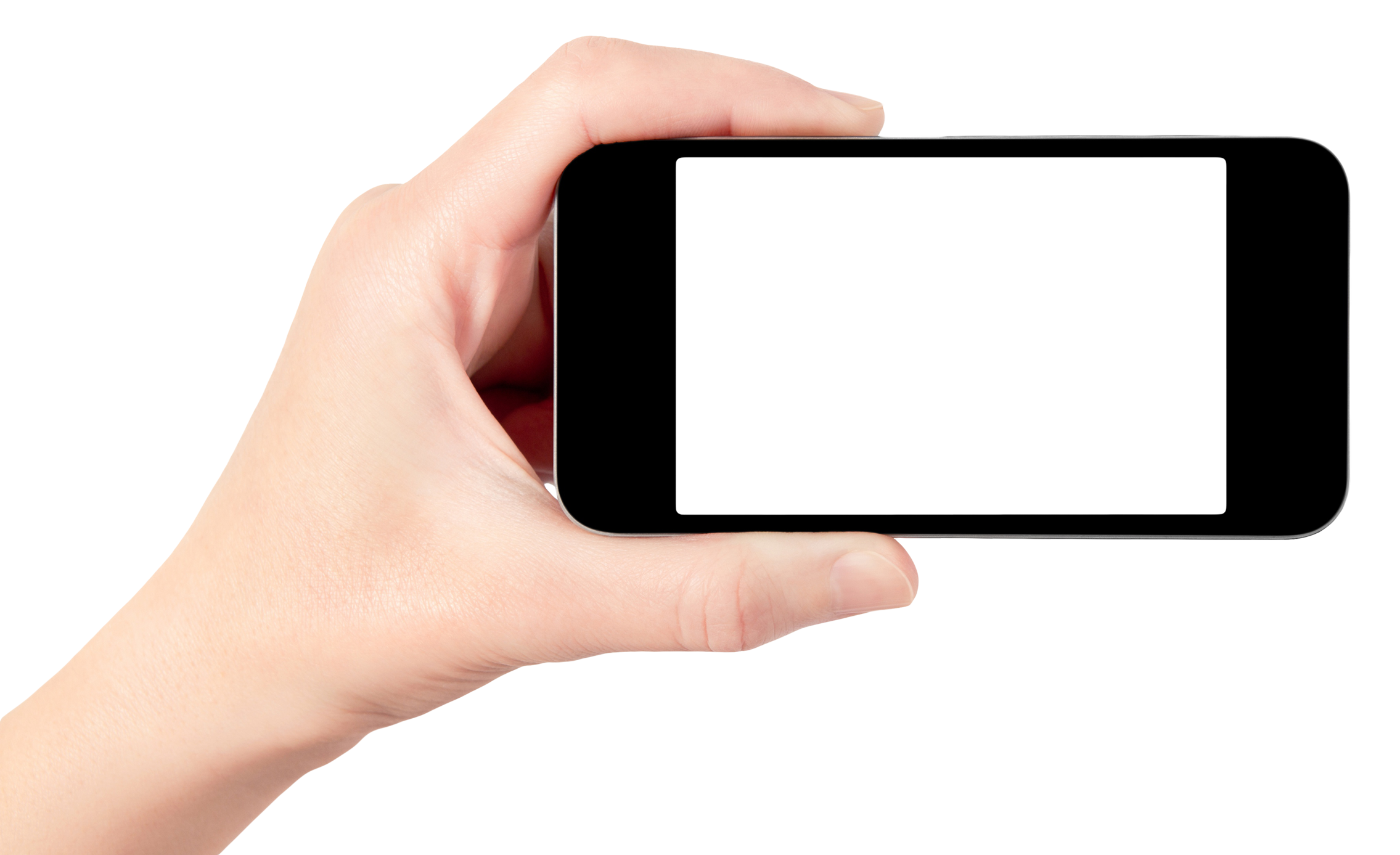 Phone in hand PNG images free download.