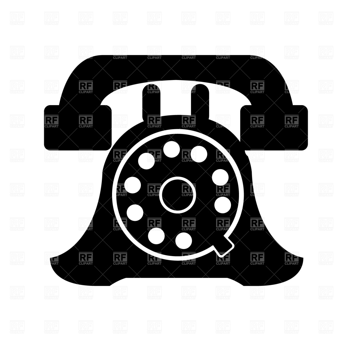 Telephone receiver icon Vector Image #1298.