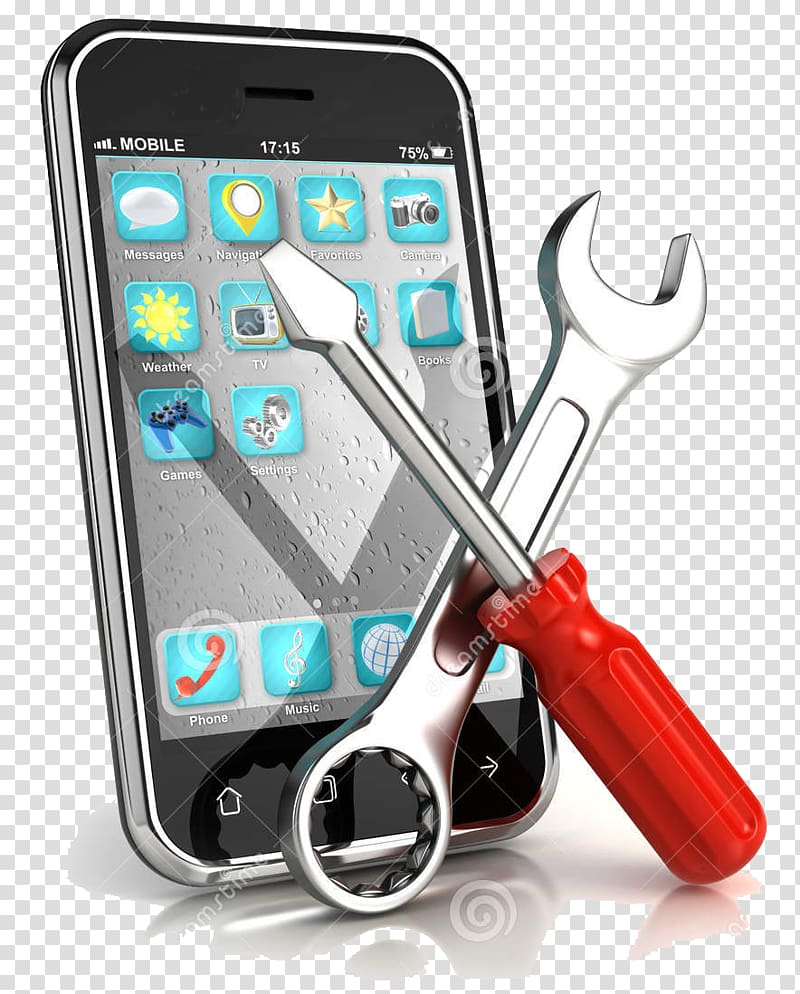 Phone repair logo , iPhone Samsung Galaxy Telephone.