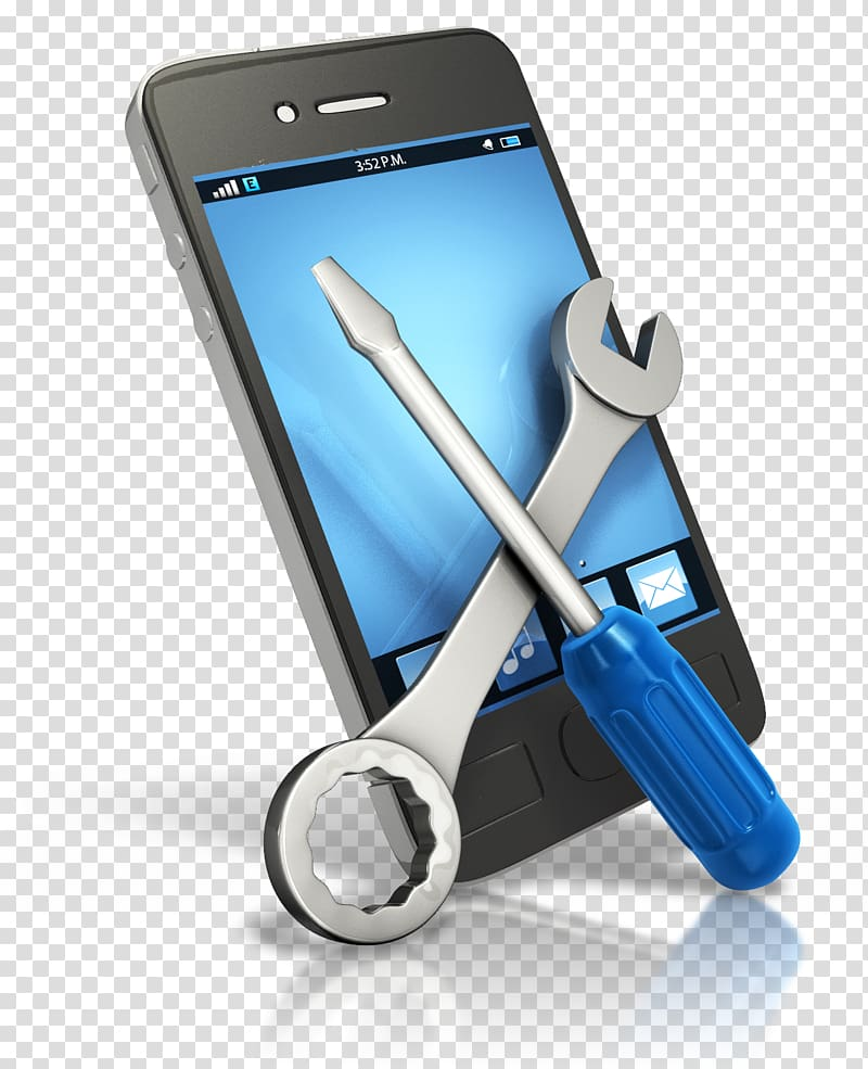 Smartphone repair illustration, Smartphone Samsung Galaxy.