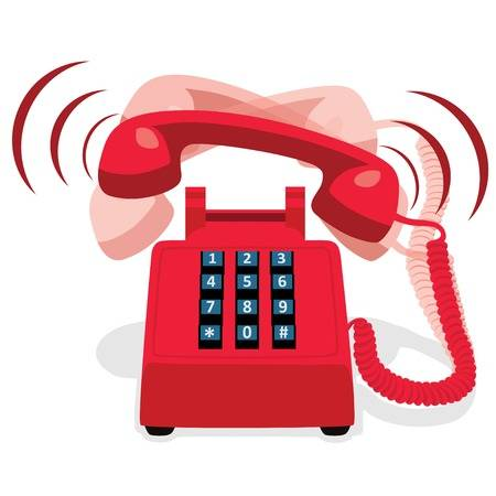Phone ringing clipart 1 » Clipart Station.