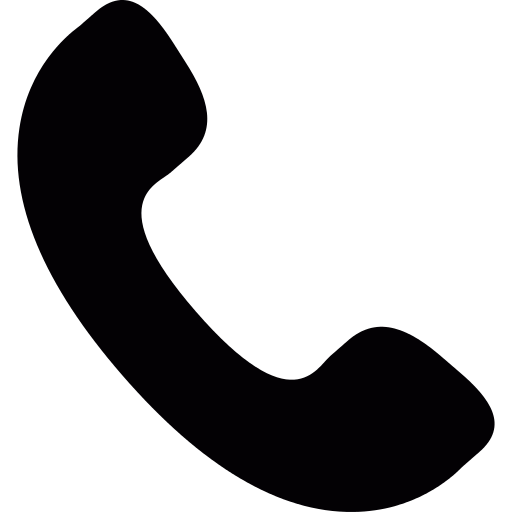 Phone Receiver Silhouette PNG Icon (4).