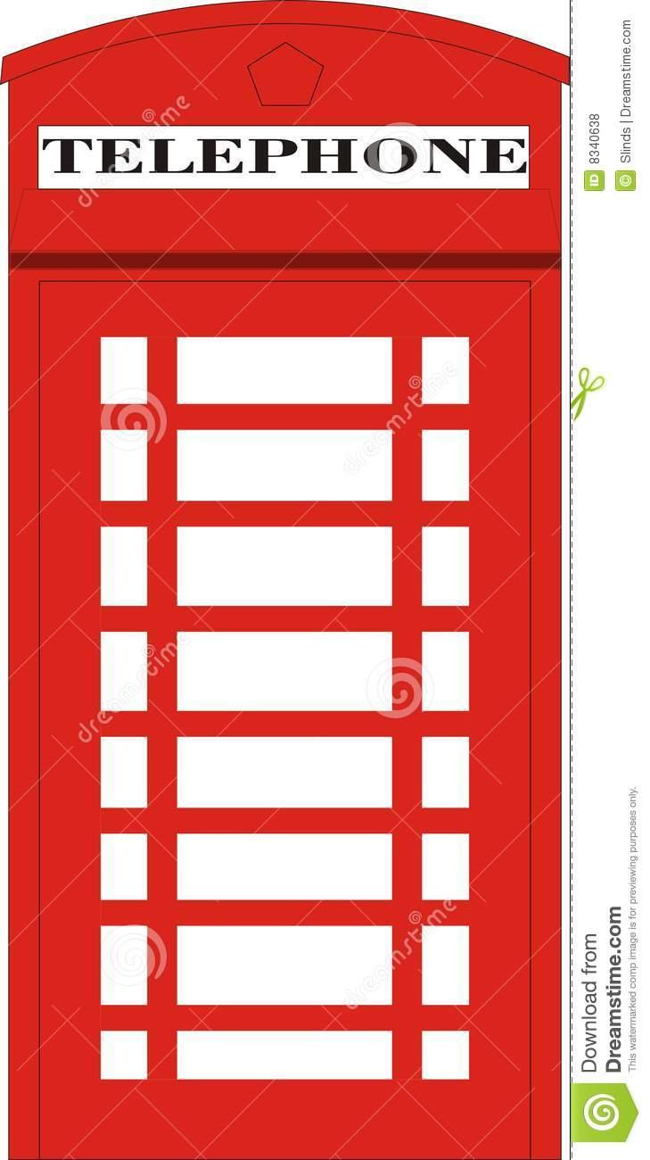 Telephone box clipart.