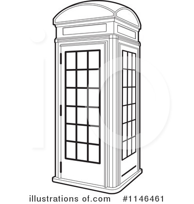 Telephone booth clipart.