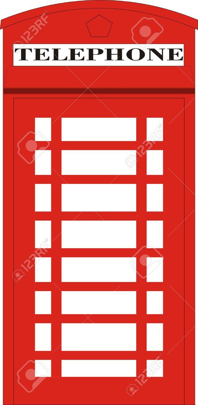 English Red Phone Box Royalty Free Cliparts, Vectors, And Stock.