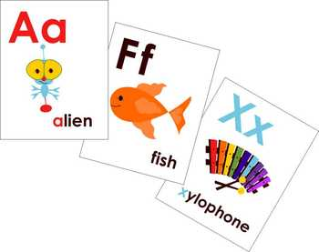 Teaching Phonics Clipart and Flashcards by Poppydreamz NOW WITH LINE ART.