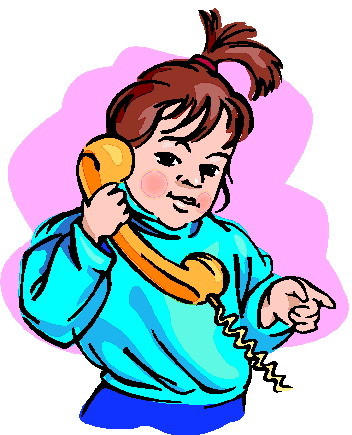 Phoning Clip Art.