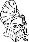 Phonograph Clip Art.