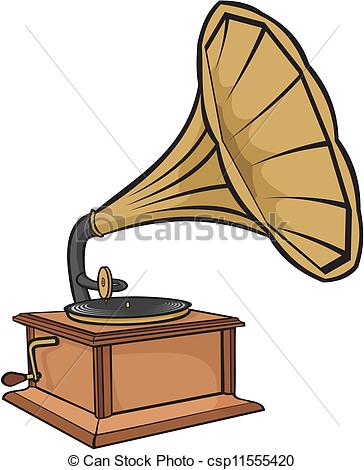 Vector Illustration of phonograph.