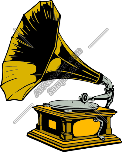 Phonograph Clipart and Vectorart: Misc Graphics.