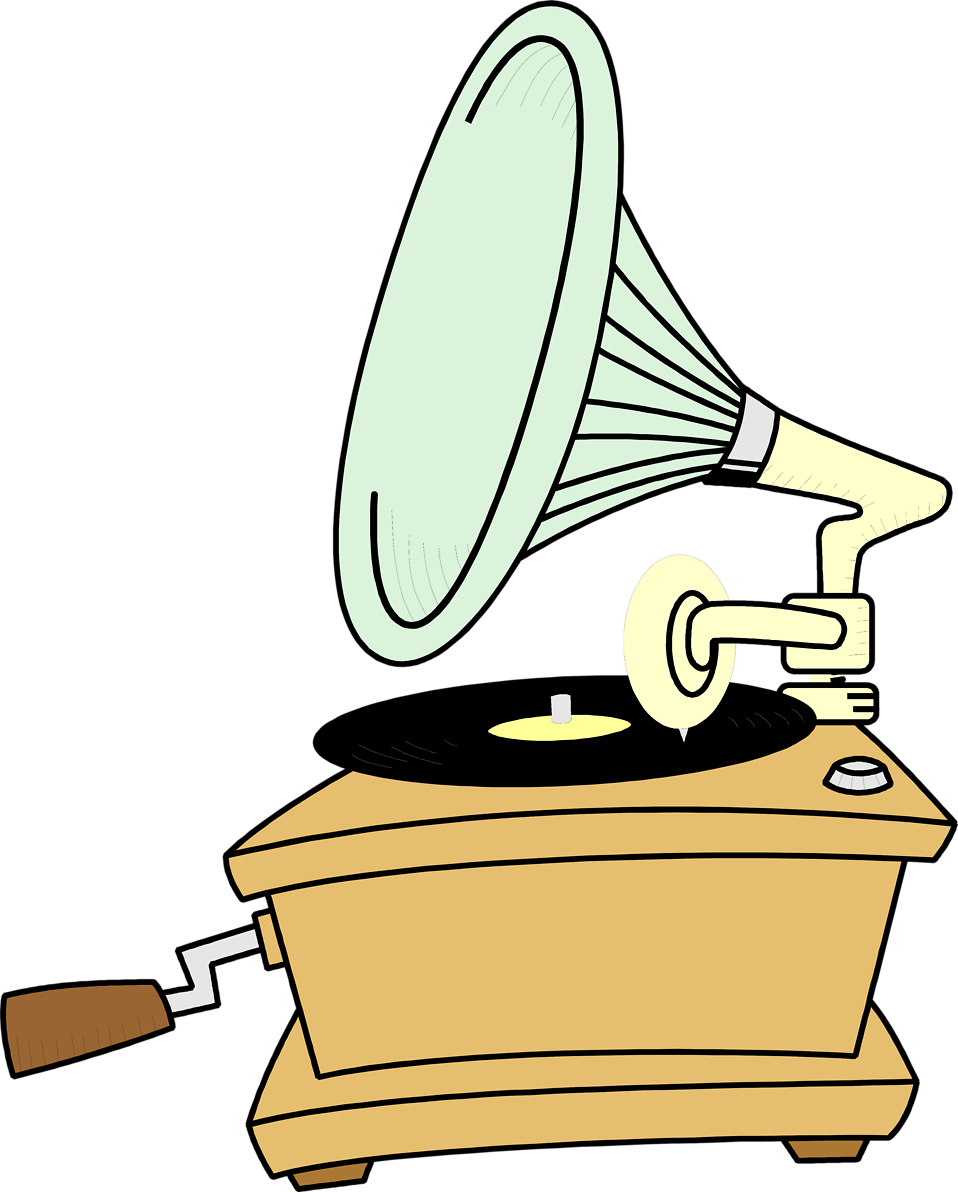 Phonograph Clipart.