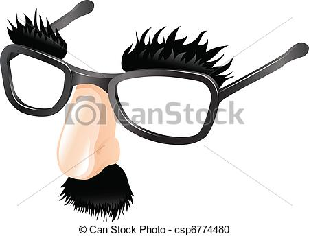 Vector Clipart of Funny disguise illustration.
