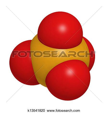 Stock Illustrations of Phosphate, molecular model k13541820.