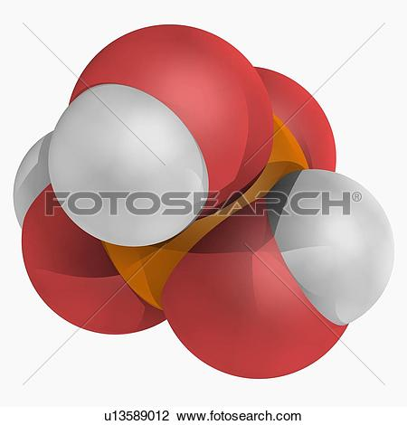 Clip Art of Phosphoric acid molecule u13589012.