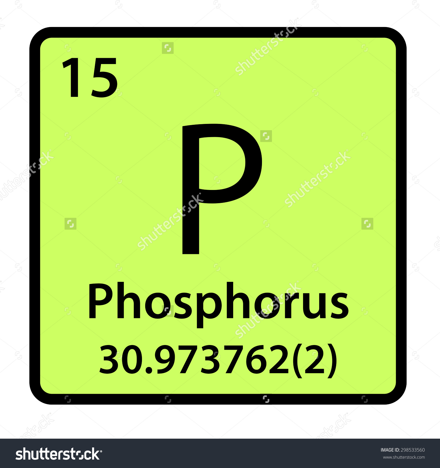 Element Phosphorus Periodic Table Stock Illustration 298533560.