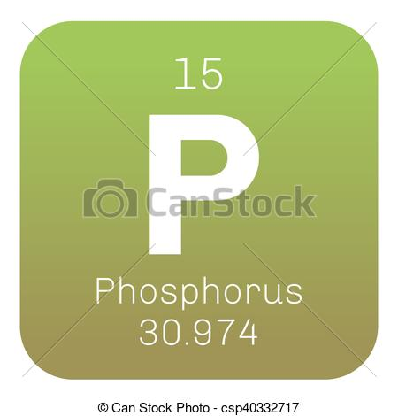 Vector Clip Art of Phosphorus chemical element. Highly reactive.