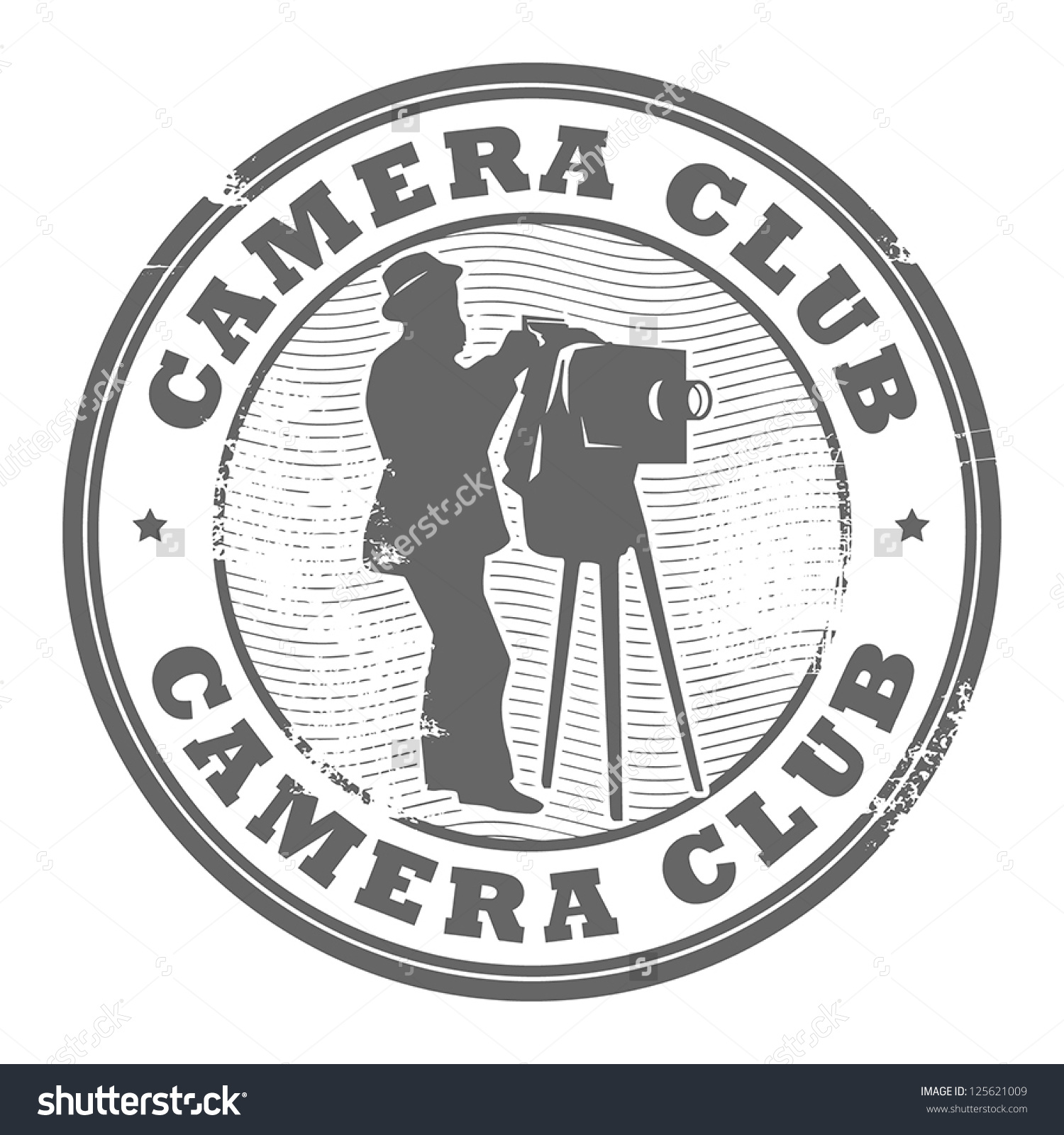 Stamp Text Camera Club Written Inside Stock Vector 125621009.