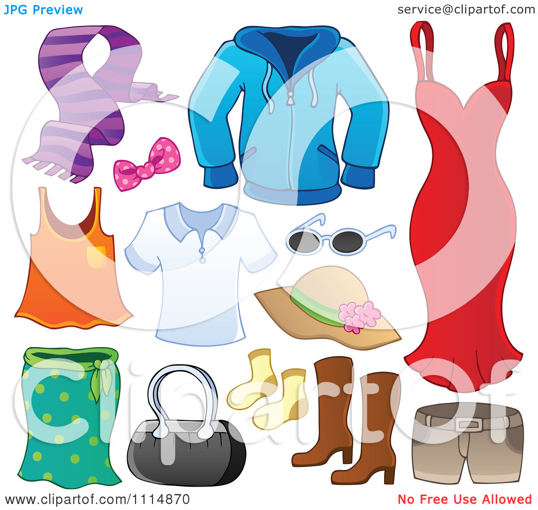 Clipart Accessories And Clothes 1.