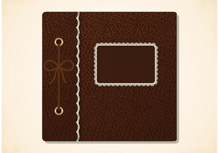 Free Vector Old Photo Album Cover.